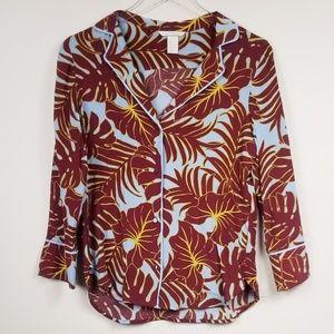 H&M//Trendy PJ style top tropical print sz 4